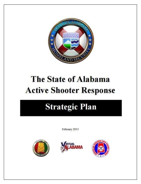 State of AL Active Shooter Response Strategic Plan (2013