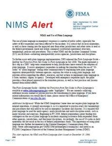NIMS Alert