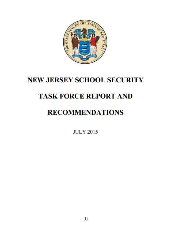 New Jersey Task Force Report School Security