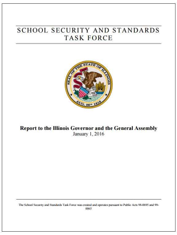 School Security and Task Force Illinois Gov and Gen Assembly