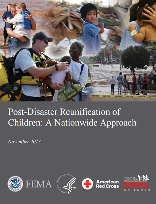Post-disaster reunificaiton of children- a nationwide approach